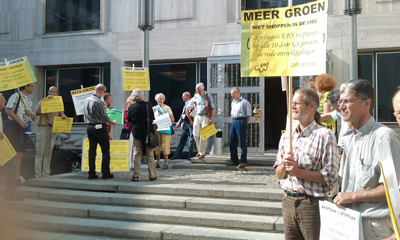 Demonstranten op 1 juli 2009 in Arnhem