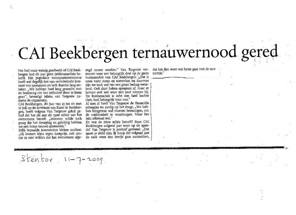 CAI Beekbergen ter nauwernood gered