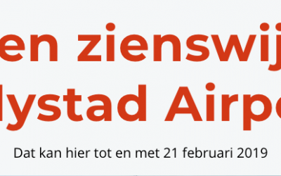 Stuur een zienswijze in over Lelystad Airport